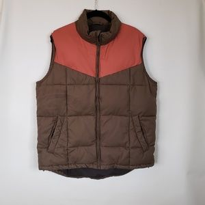 French connection FCUK puffed full zip vest L